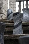 Die vier verschiedenen Granite harmonieren auf natürliche Weise.